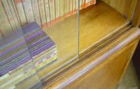 Great CC41 Post War British Oak Glazed Bookcase Cabinet (15 of 15)