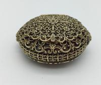 Antique Ladies Filigree Patch Box c.1865