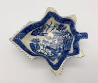 Antique Spode Blue & White Pottery Pickle Dish c.1800