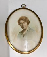 Antique Miniature Portrait Study c.1915