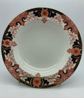 Antique Royal Crown Derby Porcelain Soup Bowl c.1886