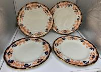 Antique Set of 4 Royal Crown Derby Dinner Plates c.1918
