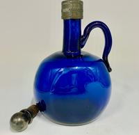 19th Century Bristol Blue Glass Flagon Decanter c.1825 (3 of 8)