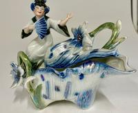 Art Nouveau Oriental Porcelain Figurine c.1895 (2 of 6)