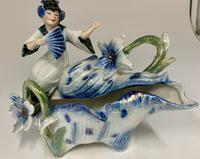 Art Nouveau Oriental Porcelain Figurine c.1895 (5 of 6)