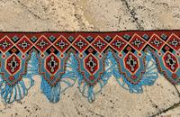Antique Victorian Needlework Pelmet Panel c.1870 (6 of 7)