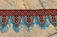 Antique Victorian Needlework Pelmet Panel c.1870 (2 of 7)