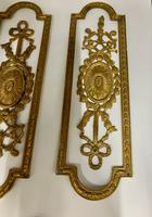 Antique Gilded Brass Door Furniture c.1830 (6 of 8)