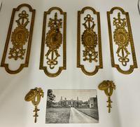 Antique Gilded Brass Door Furniture c.1830 (2 of 8)