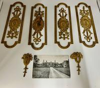 Antique Gilded Brass Door Furniture c.1830 (8 of 8)