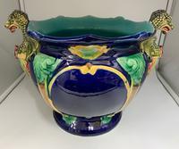 English Majolica Pottery Jardinière c.1870 (2 of 7)