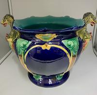 English Majolica Pottery Jardinière c.1870