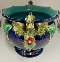 English Majolica Pottery Jardinière c.1870 (3 of 7)