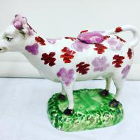 Antique Cambrian Pottery Pearlware Cow Creamer c.1825