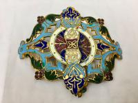 Antique Persian Enamel Belt Clasp c.1900
