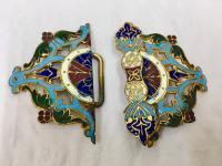 Antique Persian Enamel Belt Clasp c.1900 (4 of 4)