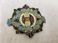 Antique Persian Enamel Belt Clasp c.1900 (2 of 4)