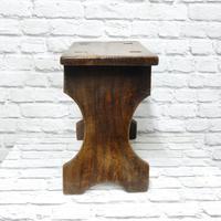 19th Century Small Trestle Stool (4 of 5)