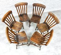 Set of 6 Vintage Windsor Kitchen Chairs (4 of 6)