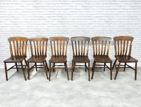 Set of 6 Vintage Windsor Kitchen Chairs (3 of 6)