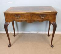 Burr Walnut Queen Anne Style Side Table C.1930