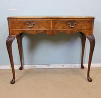 Burr Walnut Queen Anne Style Side Table C.1930 (9 of 9)