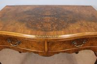 Burr Walnut Queen Anne Style Side Table C.1930 (6 of 9)