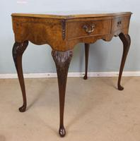 Burr Walnut Queen Anne Style Side Table C.1930 (5 of 9)