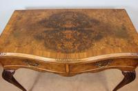 Burr Walnut Queen Anne Style Side Table C.1930 (4 of 9)