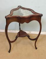 Antique Mahogany Bijouterie Display Table