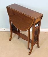 Antique Inlaid Mahogany Sutherland Occasional Table