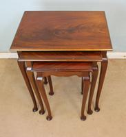 Nest of Three Mahogany Tables