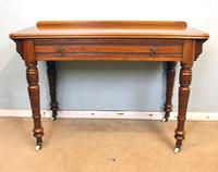 Antique Victorian Walnut Side Writing Table