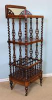 Antique Victorian Rosewood Canterbury Whatnot