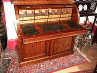 19th Century Mahogany Cylinder Bureau Bookcase (2 of 5)
