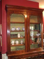 19th Century Mahogany Cylinder Bureau Bookcase (3 of 5)