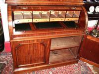 19th Century Mahogany Cylinder Bureau Bookcase (5 of 5)