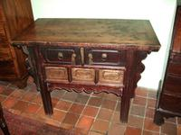 19th Century Chinese Elm Side Table / Cabinet
