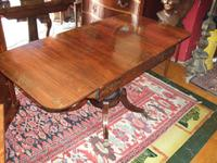 Regency Period Rosewood & Brass Inlaid Sofa Table by Edwards & Roberts