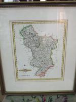 18th Century Map of Derbyshire by John Cary 1787