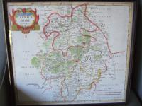 Late 17th Century Map of Warwickshire by Robert Morden