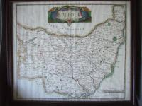 Late 17th Century Map of Suffolk by Robert Morden