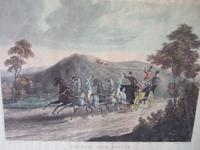 """Pair of 19th Century Aquatints: """"One Mile From Gretna"""" & """"False Alarm On the Road To Gretna"""" After Charles B Newhouse (6 of 7)"""