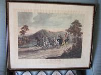 """Pair of 19th Century Aquatints: """"One Mile From Gretna"""" & """"False Alarm On the Road To Gretna"""" After Charles B Newhouse (7 of 7)"""