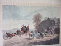 """Pair of 19th Century Aquatints: """"One Mile From Gretna"""" & """"False Alarm On the Road To Gretna"""" After Charles B Newhouse (2 of 7)"""
