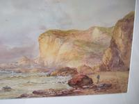 William Henry Earp Watercolour of a Coastal Landscape with Sandstone Cliffs (4 of 5)