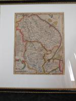 Robert Morden  Miniature Map of Lincolnshire c.1701