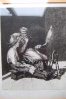 Hubert Von Herkomer Etching of Old Woman Spinning (2 of 4)