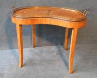 Inlaid Satinwood Tray On Stand C.1900