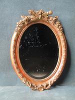 English Oval Gilt Mirror c.1880